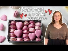 (6) Szív alakú macaron, svájci módszerrel - YouTube Macarons, Easter Eggs, Youtube, Convenience Store, Food, Dekoration, Convinience Store, Eten, Meals