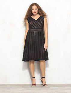 38438646066 db Signature™ Plus Size Harper Lace Dress Lace Dress Black