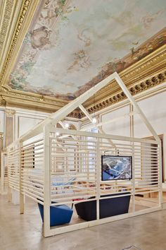 I this the perfect creative workplace? This office space embellished with light woodwork is home to marketing and data consultancy firm Ekimetrics in Paris