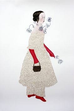 Red Gloves Girl Anne Siems