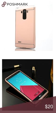 Lg stylo mirror case Rose gold mirror case. Slide on back Accessories Phone Cases