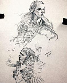 Elves doodle, evankart.tumbler.com