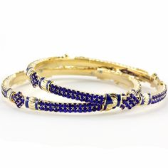 Sultry Sapphire Bangles #blue #purple #bangles