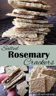 Salted Rosemary Crackers (Paleo, Vegan, Allergy-friendly, grain-free, egg-free, dairy-free, nut-free)