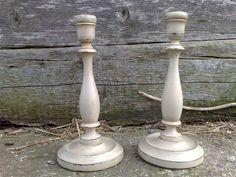 Shabby chic candlesticks from nonetooshabby.com