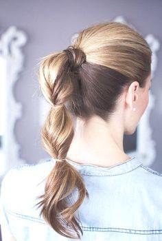 Stylish ponytail