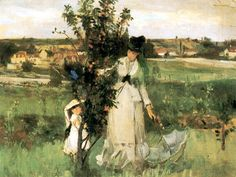 Berthe Morisot : Cache-cache. 1873. Mrs John Hay Collection, New York