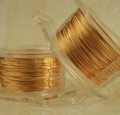 28 gauge gold colored wire