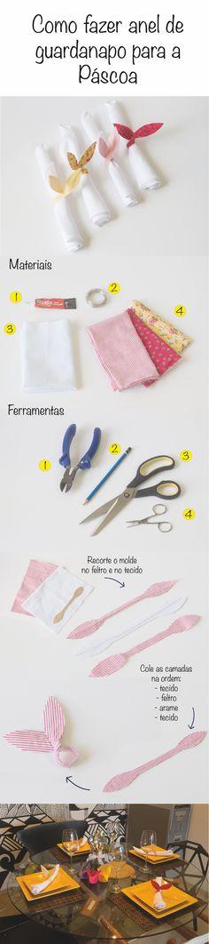 Aprenda a fazer anéis de guardanapo para decorar sua casa na Páscoa.