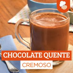 Chocolate quente cremoso Creamy hot chocolate is what you need to keep warm in the cold! Check out how to prepare a delicious and super creamy hot chocolate! Low Carb Desserts, Dessert Recipes, Good Food, Yummy Food, Cooking Recipes, Healthy Recipes, Cooking Fish, Oven Cooking, Diy Food