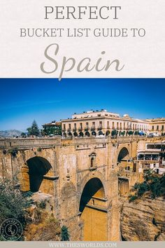 Perfect bucket list guide to visiting Spain, this european bucket list destinations is full of interesting things to do and see, so explore this list to create a perfect Spain itinerary when traveling to Europe! | Spain bucket list | Travel ideas spain | Things to do Spain | Spain travel guide #spain #travel #bucket #list #things #todo #ideas #europe #barcelona #destination