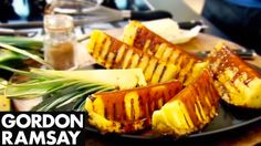 Griddled Pineapple with Spiced Caramel - Gordon Ramsay  pineapple sugar cream chinese spice butter