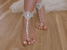 Rhinestone+barefoot+sandals+Beach+wedding+sandals+from+Weddinggloves+by+DaWanda.com