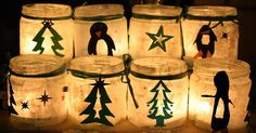 Wonderful and simple Christmas lights. Great gifts for grandmothers, aunts and uncles. - Diy and Crafts Mix Diy Christmas Decorations, Christmas Lights, Christmas Time, Christmas Crafts, Mary Christmas, Christmas Ideas, Winter Crafts For Kids, Crafts For Kids To Make, Diy And Crafts