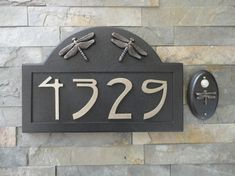 Craftsman House Numbers & Wired Doorbell Set / Bungalow / Dragonfly / Arts and Crafts  @cravecompany #whatdoyoucrave