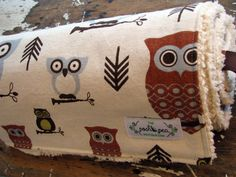 Baby Blanket  Hooty Owl  Chenille or Minky by theposhpeaboutique, $35.00