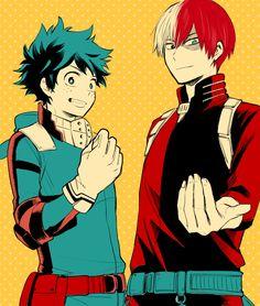 Boku no Hero Academia || Midoriya Izuku, Todoroki Shouto ( #Manga )