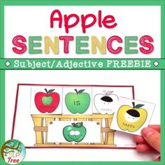 This fall themed activity will help your students expand their utterances and use adjectives to describe the emotions on apples! The use of pictures makes this an accessible activity for non-readers and for students who benefit from visual support. This is a free sample from Apple Sentences.