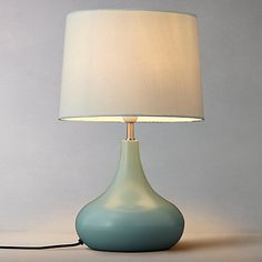 Buy Fir Green John Lewis Laura Touch Lamp from our Table Lamps range at John Lewis. Free Delivery on orders over Green Rooms, Lamp, Ruby Room, Coastal Bedrooms, Bedside Lamp, Amazing Spaces, Floor Lamp Design, Touch Lamp, Home Decor Furniture