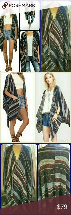 FREE PEOPLE Blanket Style Serape Poncho festival Please see details above..is a relist cos pish Poshmark attached incorrect shipping label2  email ..ultimately the blame falls.on me.cos I should have double checked but why would I think the wrong label was attached to email..it shouldn't be but it was ..and wasn't the 1st time this has happened thankfully in past I was able to catch since I had multiple items to mail & duplicate labels for SAME person. Idk if I am the only person has…