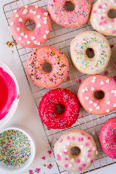 How to make colorful donut glaze