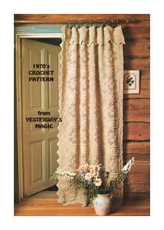 Vintage 1970's Crochet Pattern - Door Curtain or Bedspread. Clever idea. /;)