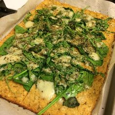 Low-Carb White Pizza This is my  new go-to pizza for reals. It is so good and I couldn't believe there was no dough at all. Ingredient...