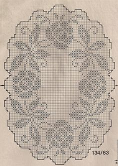 filet crochet placemat chart