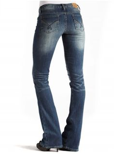 NOW THESE ARE A PERFECT PAIR OF JEANS... THE FIT RIGHT, SIT LOW, AND ARE BOOT CUT... I'M IN HEAVEN