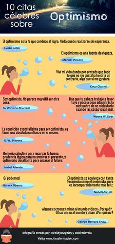 10 #citas célebres sobre #Optimismo #infografia