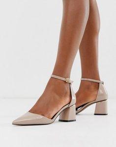 Ex New Look Wide Fit Ankle Tie Cut-Work Flat Sandals Pumps Shoes Black