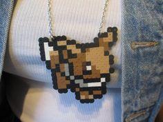 Eevee Pokemon Perler Bead Necklace - Homemade. $9.00, via Etsy. Pearler Bead Patterns, Pearler Beads, Pokemon Perler Beads, Arrow Necklace, Beaded Necklace, Arts And Crafts, Diy Crafts, Kandi, Beading Patterns