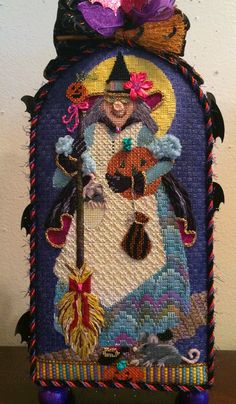 "Enriched Stitch ""Ingride"" Witch (Melissa Sirley) available here: http://enrichedstitch.myshopify.com/collections/halloween"