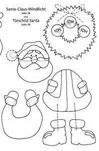 Moldes de Natal e Papai Noel para EVA ou Feltro