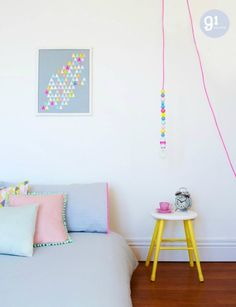 pastel slaapkamer (http://www.cutypaste.com/estilo-de-vida/pastel-and-neon/)