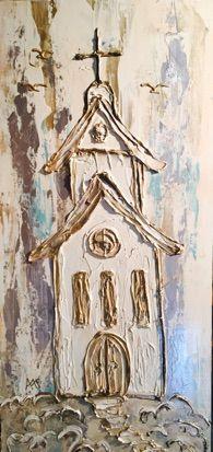 Amanda DeLaughter Art Block Painting, Plaster Art, Cross Art, Abstract Canvas Art, Art Club, Christian Art, Texture Painting, Religious Art, Love Art