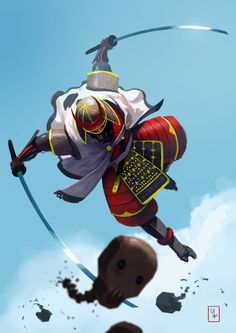 ArtStation - Cyber-Samurai, Malte Zirbel