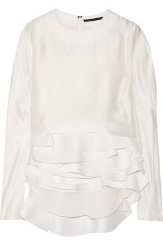 Haider Ackermann | Tiered silk-satin blouse | NET-A-PORTER.COM