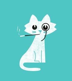 """Aristo-Cat  by Budi Satria Kwan  ART PRINT / MINI (8"""" X 9"""")  $19.97"""