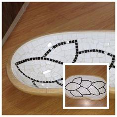 Gamela de madeira com mosaico em caracol   Bandejas   Pinterest ...