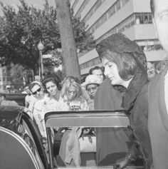 Mrs. John F. Kennedy leaves St. Matthew's Cathedral here this morning after attending a Memorial Mass for her late husband on what would have been his 47th birthday.  Date:May 29, 1964 .... RIP   http://en.wikipedia.org/wiki/State_funeral_of_John_F._Kennedy