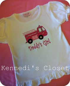 Hey, I found this really awesome Etsy listing at https://www.etsy.com/listing/85773112/daddys-girl-pink-firetruck-applique