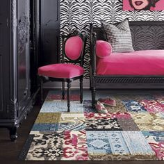 FLOR Rug Designs - assemble various carpet squares to create custom rugs, runners of any shape/size. Black And White Carpet, Grey Carpet, Black White, Yellow Carpet, Fur Carpet, Room Carpet, White Rug, Carpet Colors, Flor Rug