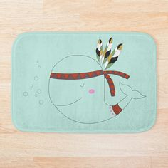 Give your bathroom a chic update with a soft, snuggly bath mat. Stylish and functional bathroom mats available in various sizes. Whale Illustration, Bath Mat Design, Bath Accessories, Floor Pillows, Wall Tapestry, Nursery Decor, Duvet Covers, Bathroom, Chic