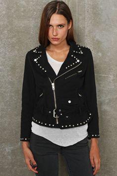 Bess X UO Moto-Jacke mit Nieten