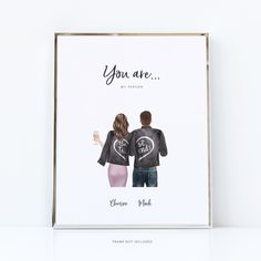 Girl and boy best friend | gifts for him personalised - 8x10 in. / download