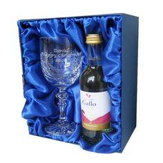 White Wine & Crystal Goblet Set