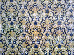 Tile Pattern :: Indigo & Taupe