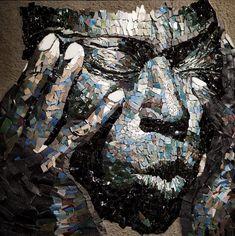 Mosaic Portrait, Fb Page, Portraits, Mosaic Art, Tiffany, 3d, People, Contemporary Mosaic Tile, Contemporary Art