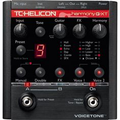 TC Helicon VoiceTone Harmony G-XT Vocal Harmony and Effects Pedal for